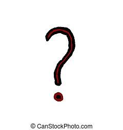 Question symbol icon on white.