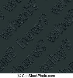 question, walpaper., mots