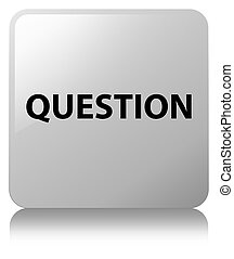 Question white square button