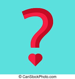 Question with heart-shaped point