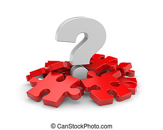Question with puzzles - Image contain the clipping path