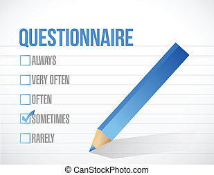questionnaire check tick mark selection illustration design...