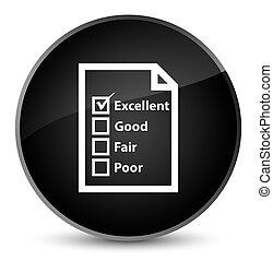 Questionnaire icon elegant black round button