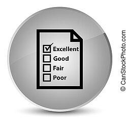 Questionnaire icon elegant white round button