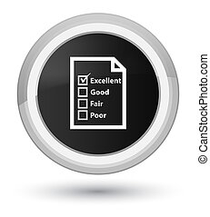 Questionnaire icon prime black round button