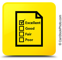 Questionnaire icon yellow square button