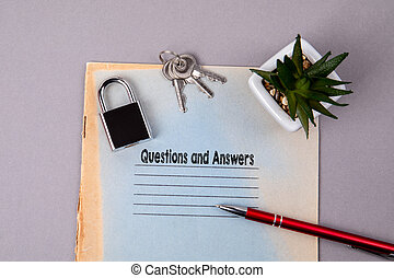 Questions and Answers. Education, health, business and communication concept