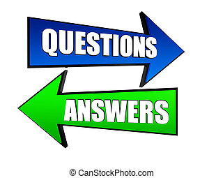 questions and answers in arrows - words questions and...