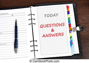 Questions and answers message