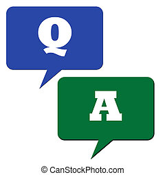 Questions and answers - Question and answer speech bubbles ...