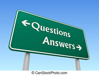 questions answers direction sign concept 3d illustration
