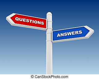 questions answers direction sign concept illustration