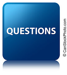 Questions blue square button