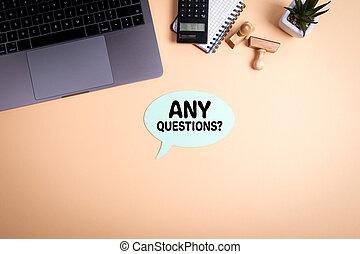 questions, concept, n'importe quel, business