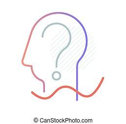 questions, faq, frequently, icône, -, demandé