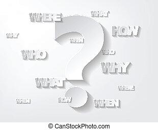 questions, fond