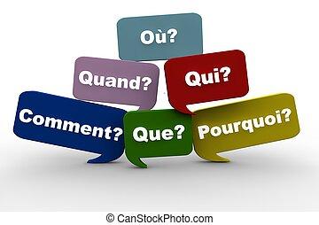 questions, francais