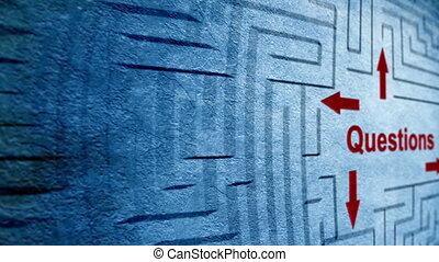 Questions maze concept