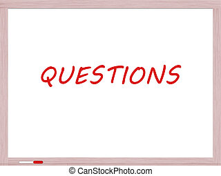 Questions on Dry Erase Board - Questions written on a Dry ...