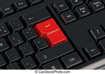 questions ? red keyboard button