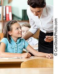 questions, tout, élèves, réponses, prof