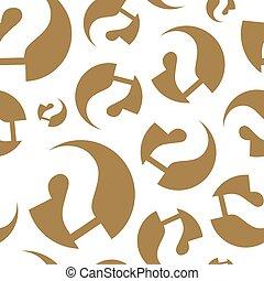 questions., vecteur, pattern., seamless, illustration.