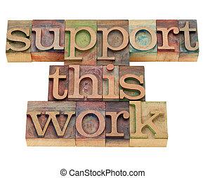 questo, sostegno, lavoro