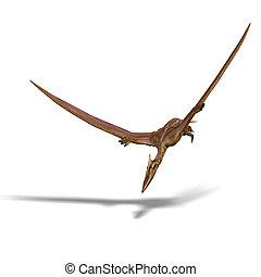 Quetzalcoatlus - rendering of the flying dinosaur...