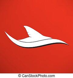 queue baleine, icône