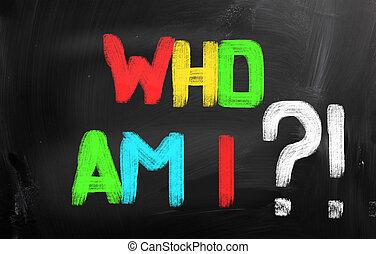 quién, soy, yo, concepto