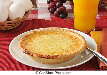 Quiche with fresh eggs