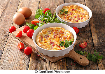 quiche with ham and cream