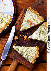 quiche with smocked salmon