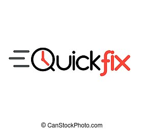 Quick Fix Logo Concept Design, AI 8 supported.