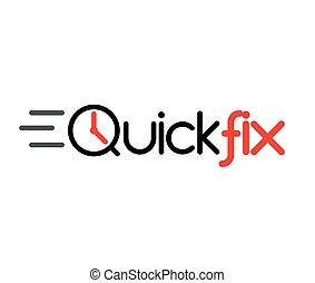 Quick Fix Logo Concept Design, AI 8 supported.