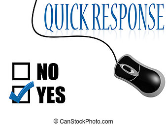 Quick response check mark image with hi-res rendered artwork...
