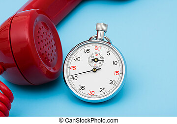 Stop watch with telephone � very quick response time