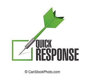 quick responsive check mark illustration