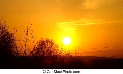 Quick sunset (Sun setting, Time Lapse)