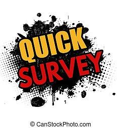Quick survey grunge rubber stamp