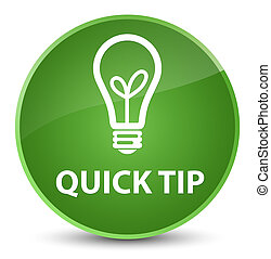 Quick tip (bulb icon) elegant soft green round button