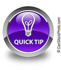 Quick tip (bulb icon) glossy purple round button