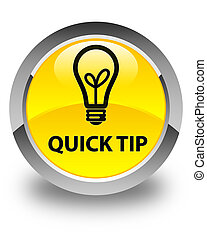 Quick tip (bulb icon) glossy yellow round button