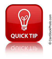 Quick tip (bulb icon) special red square button