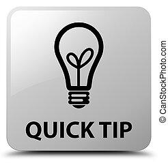 Quick tip (bulb icon) white square button