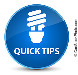 Quick tips (bulb icon) elegant blue round button