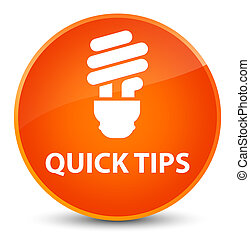 Quick tips (bulb icon) elegant orange round button