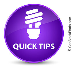 Quick tips (bulb icon) elegant purple round button