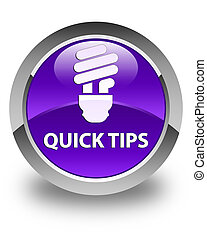 Quick tips (bulb icon) glossy purple round button