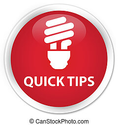 Quick tips (bulb icon) premium red round button